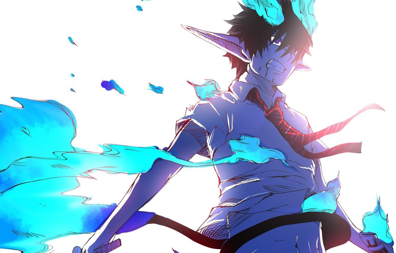 Wallpaper Anime Art Guy Ao No Exorcist Rin Okumura Blue