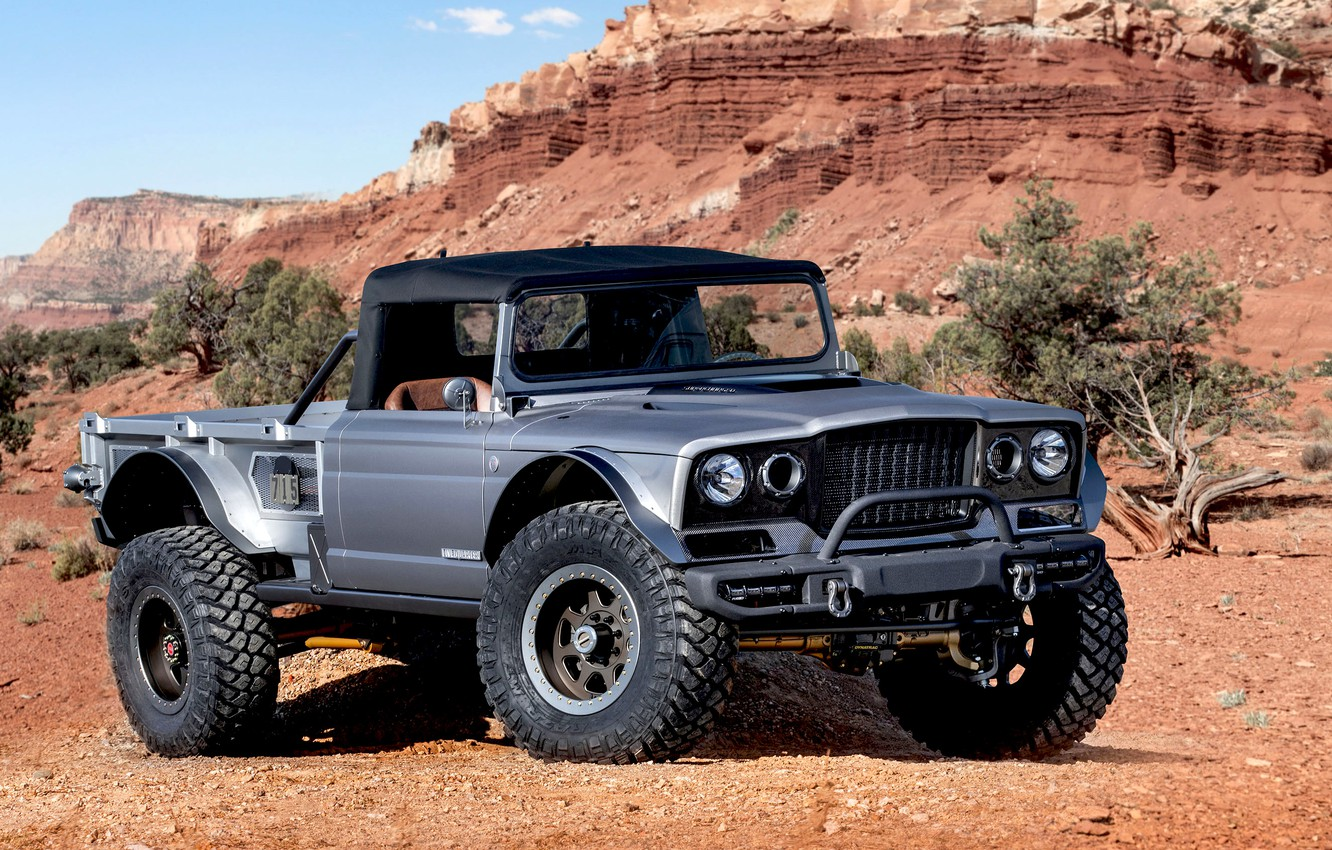 Photo wallpaper Gladiator, Jeep, 2019, M-715, Five-Quarter