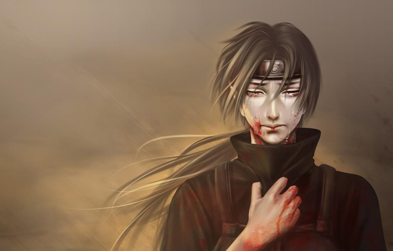 Photo wallpaper sadness, anime, art, guy, Naruto, Naruto, Itachi Uchiha