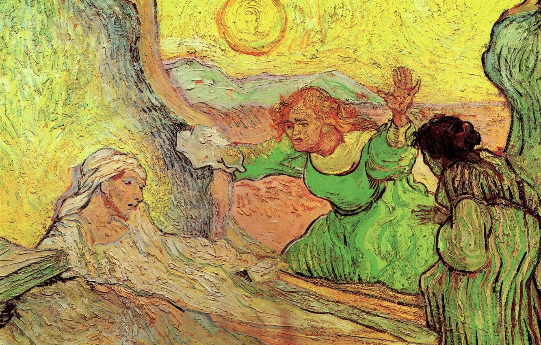 Photo wallpaper Vincent van Gogh, The Raising, of Lazarus after Rembrandt