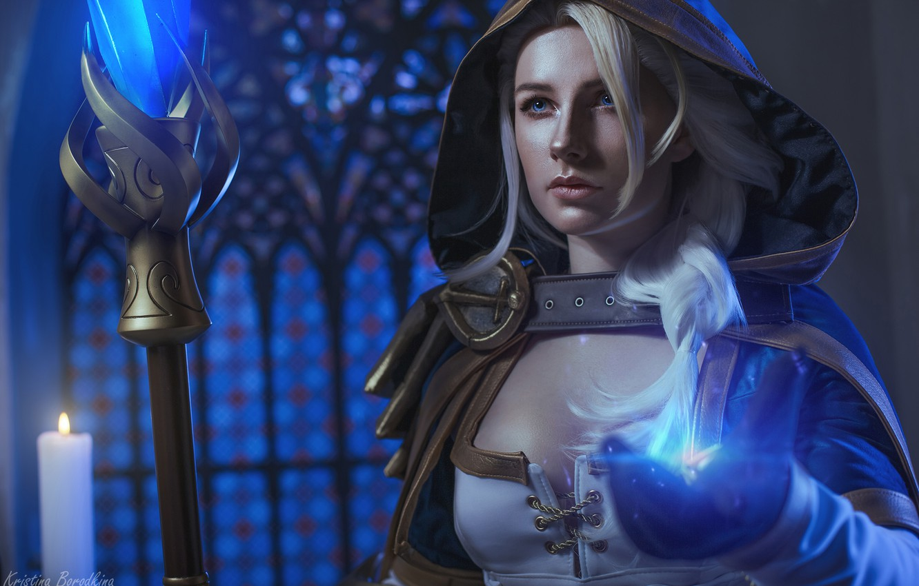 Photo wallpaper Warcraft, the witch, cosplay, Jaina Proudmoore, Kristina Borodkina, based on the game