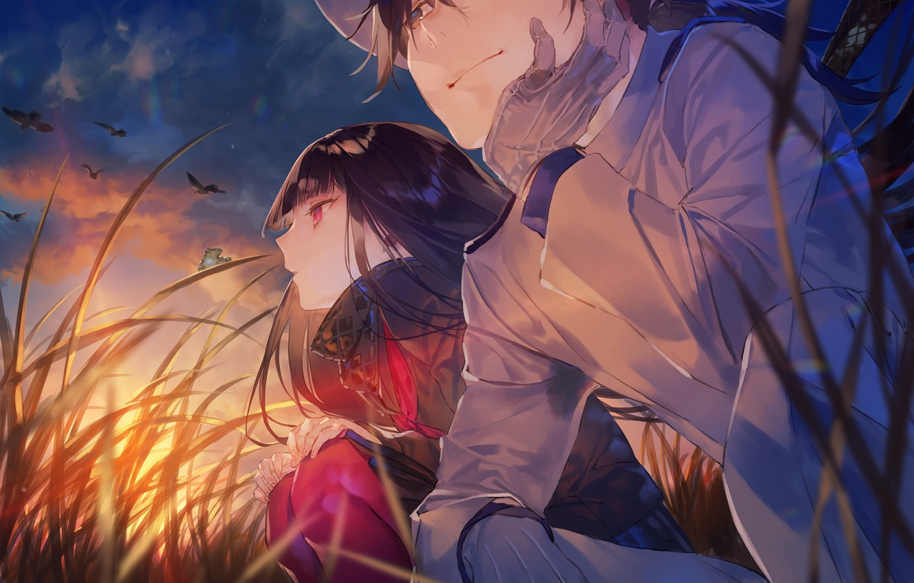 Photo wallpaper girl, nature, guy, Fate / Grand Order, The destiny of a great campaign