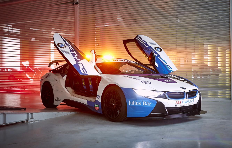 Photo wallpaper BMW, Safety Car, BMW i8, Formula E, 2019