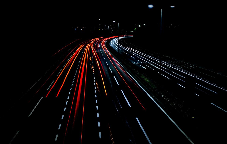 Wallpaper Light Road Night Lines Images For Desktop Section Gorod Download