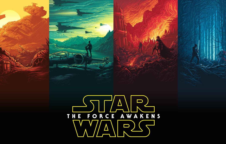 Photo wallpaper Star Wars, Star Wars, poster, The Force Awakens, Episode VII