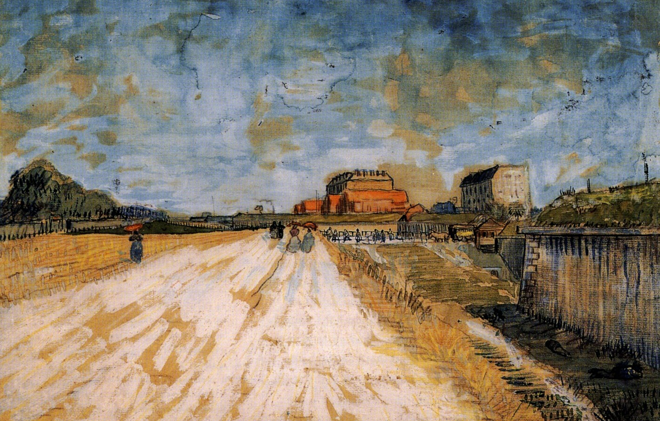 Photo wallpaper Vincent van Gogh, Road Running, Beside the Paris, Ramparts