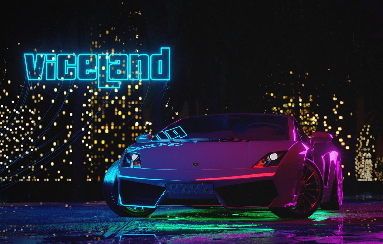 Wallpaper Auto, Night, Music, Lamborghini, Neon, Machine ...