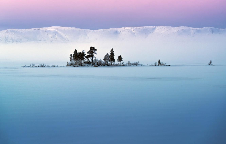 Photo wallpaper the sky, snow, hills, Trees, Adnan Bubalo