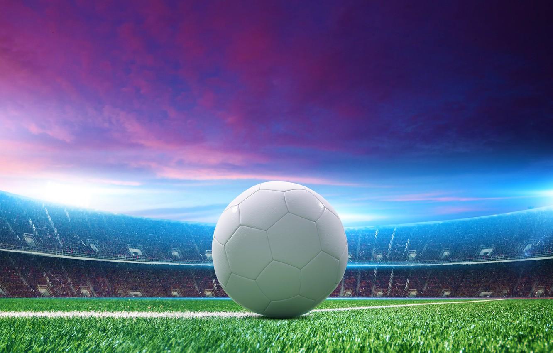 Photo wallpaper grass, photo, the ball, stadium