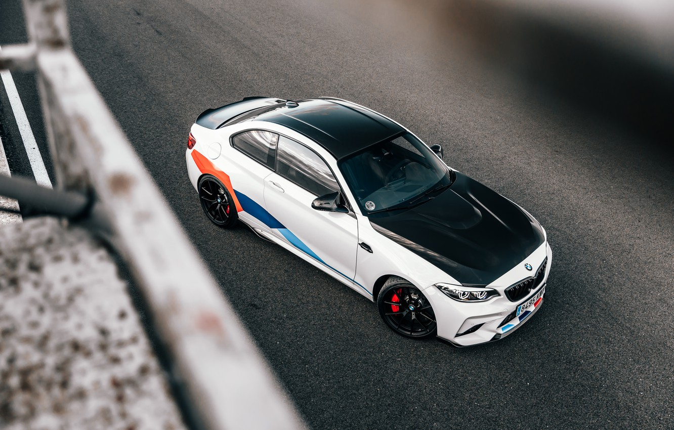 Photo wallpaper BMW, the view from the top, 2018, Competition, F87, BMW M2, M Performance Accessories