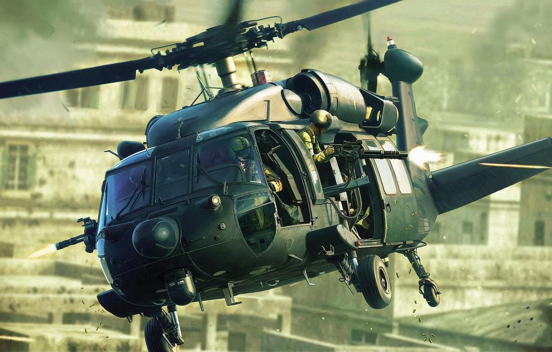 Photo wallpaper Sikorsky, Black Hawk, Black hawk, U.S. Army, American multi-purpose helicopter, US army, army an option …