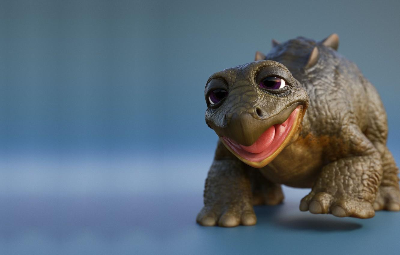 Photo wallpaper mood, baby, children's, dinosaur, Neal Biggs, Land Before Time - Spike Update