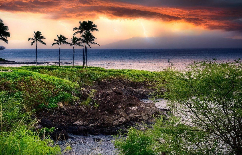 Photo wallpaper sea, nature, shore