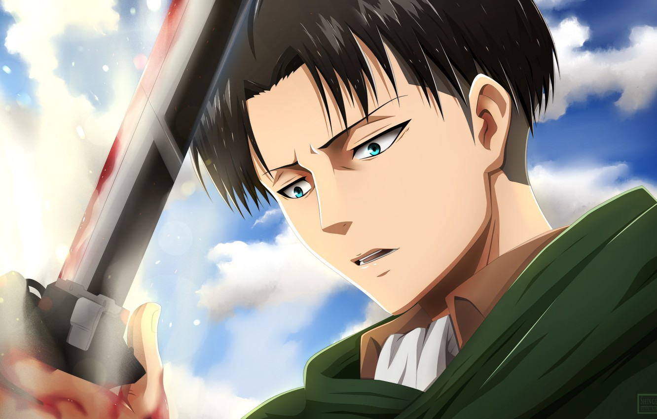 Wallpaper Anime Blood Shingeki No Kyojin Attack Of The Titans The Invasion Of The Giants Levi Ackerman Levi Repay Blade Corporal Levi Images For Desktop Section Syonen Download
