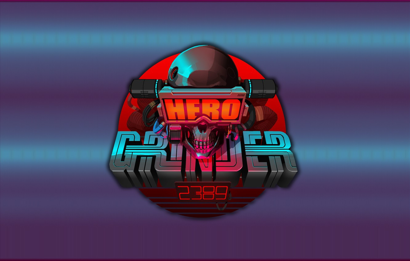 Wallpaper Background Hero Skull Art Grinder Cyberpunk