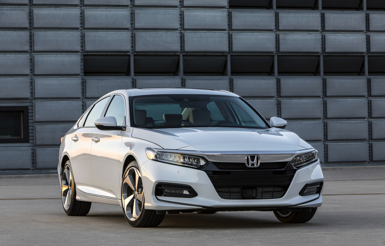 Photo wallpaper white, Honda, Accord, sedan, 2018, the wall, Touring, 2.0T, four-door