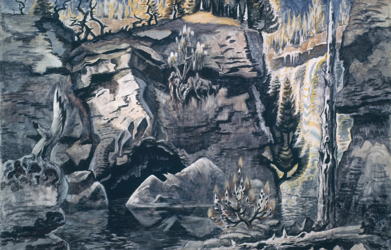 Photo wallpaper Solitude, Charles Ephraim Burchfield, 1944-63