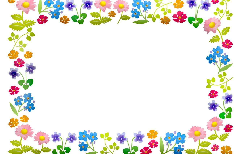 Photo wallpaper flowers, frame, postcard, template, blank