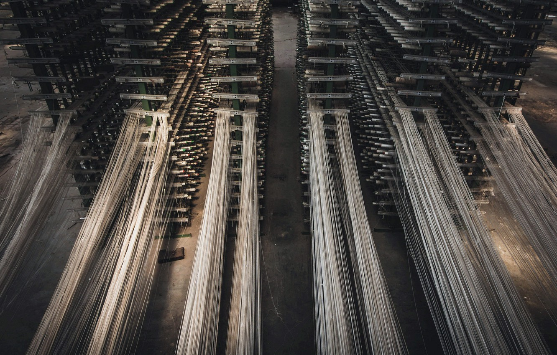 Photo wallpaper plant, thread, factory