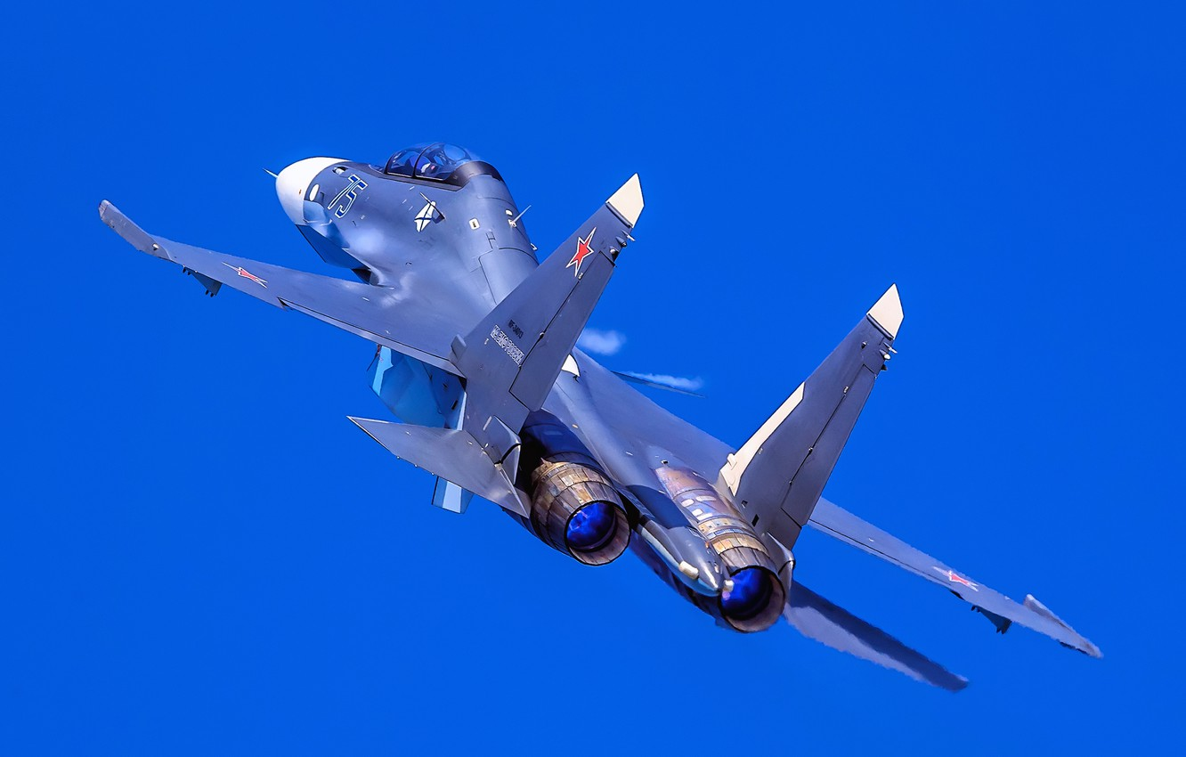 Photo wallpaper the sky, flight, multi-role fighter, Su-30CM, Su-30SM, MA Navy, generation 4