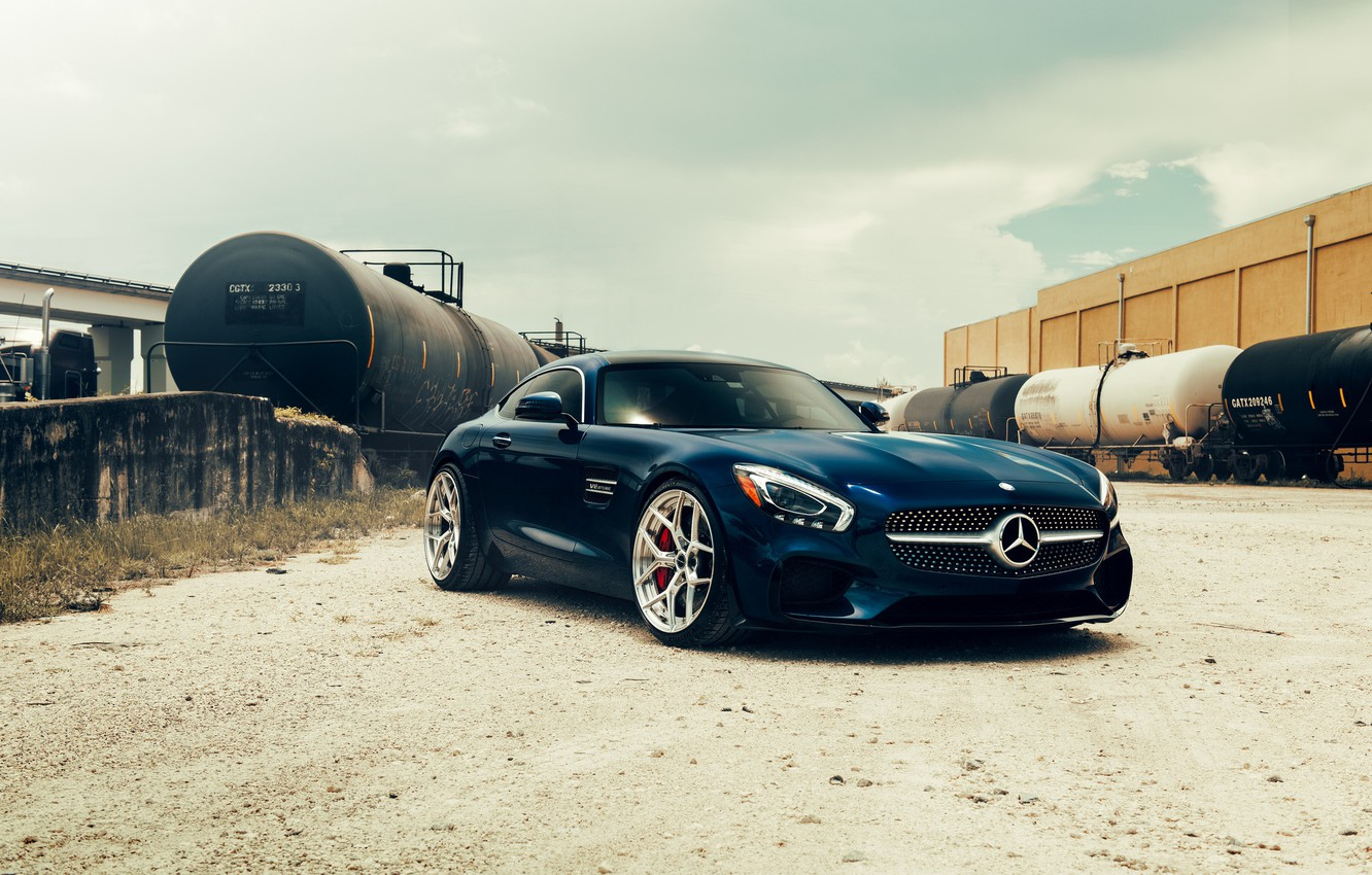 Photo wallpaper sports car, tank, Mercedes AMG GT S