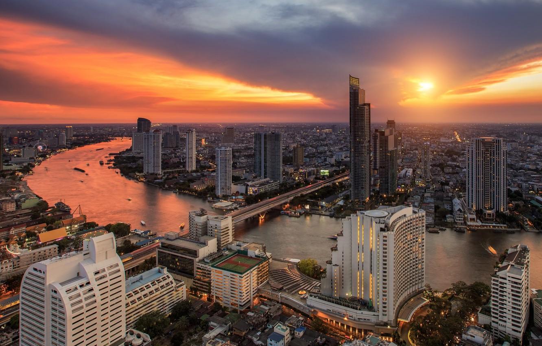 Photo wallpaper landscape, the city, panorama, Thailand, Bangkok, Thailand, Bangkok