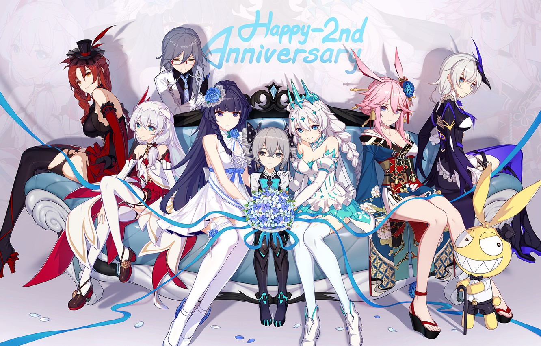 Photo wallpaper girls, the game, group, anime, characters, Honkai Impact 3rd