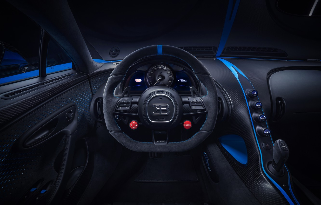 Photo wallpaper the wheel, Bugatti, salon, hypercar, Chiron, 2020, Pur Sport