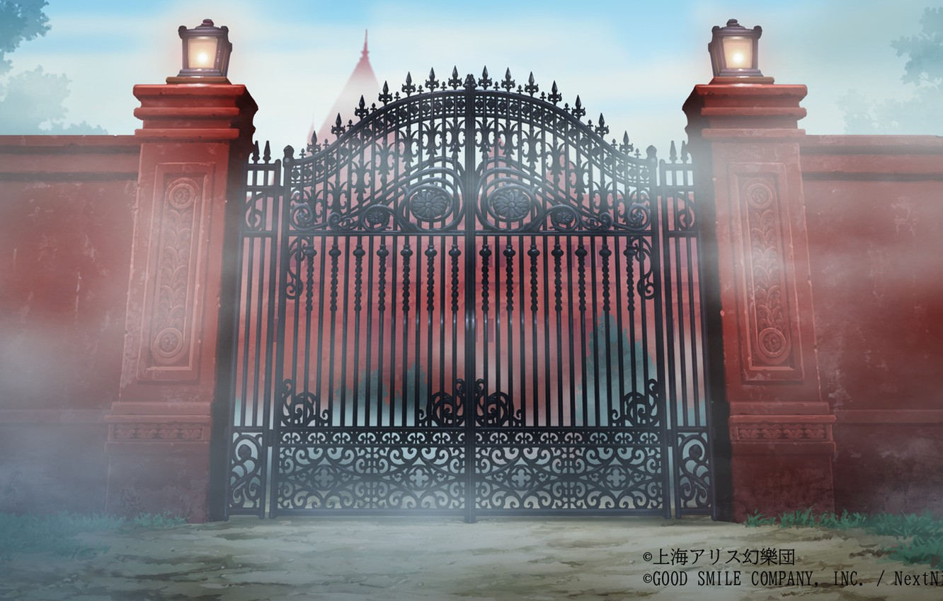Photo wallpaper fog, Touhou Project, Project East, Scarlet Devil Mansion, The Scarlet Devil Mansion