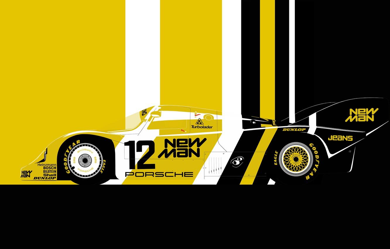 Photo wallpaper sport car, lemans, 1983 Porsche 956