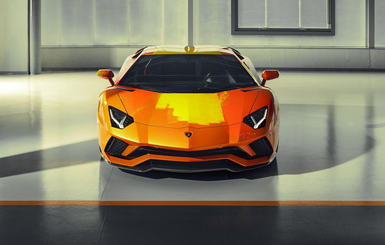 Photo wallpaper Lamborghini, sports car, Aventador S, Skyler Grey