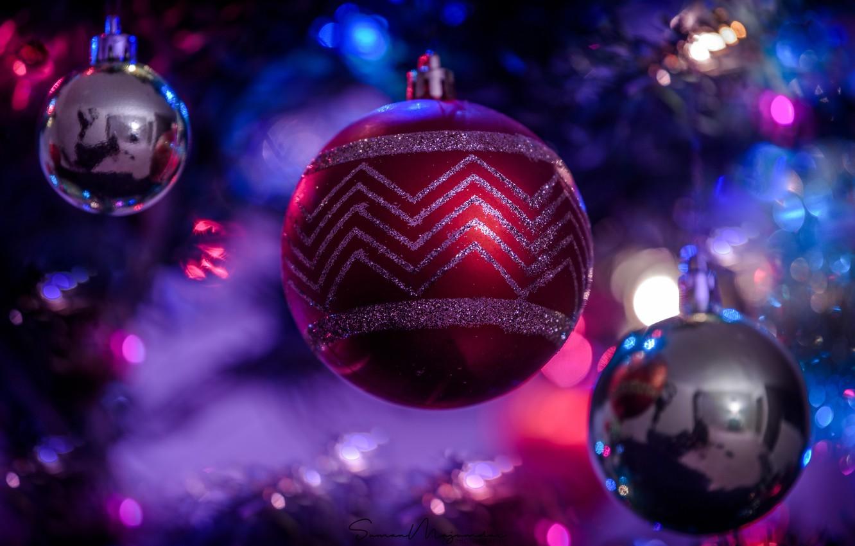 Photo wallpaper balls, balls, New year