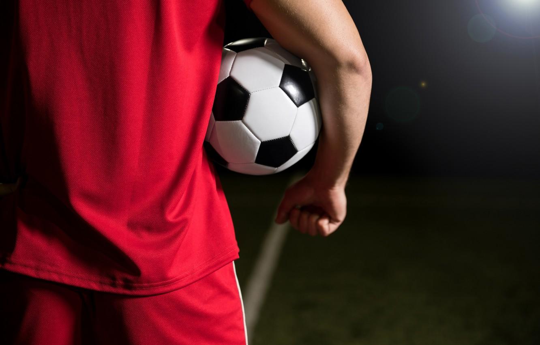 Photo wallpaper football, men, ball