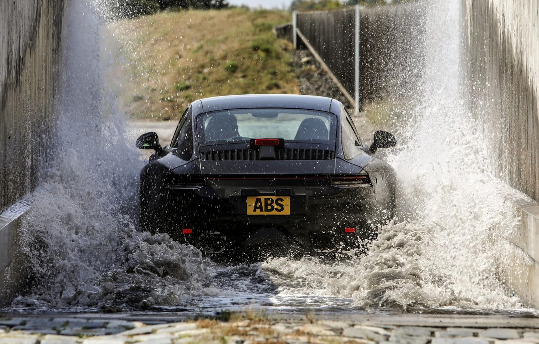 Photo wallpaper squirt, coupe, 911, Porsche, prototype, tests, 992