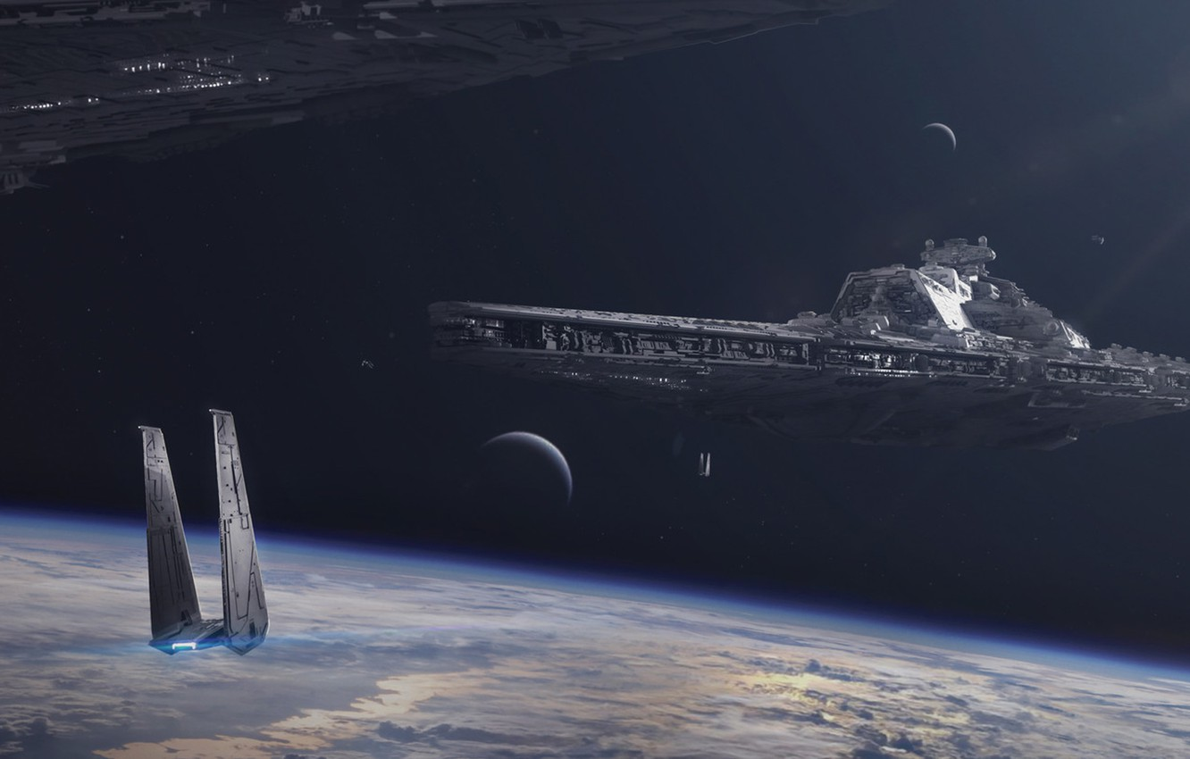 Photo wallpaper star wars, star wars, spaceship, starship, battlecruiser, JULIAN CALLE, Bellator-class dreadnought