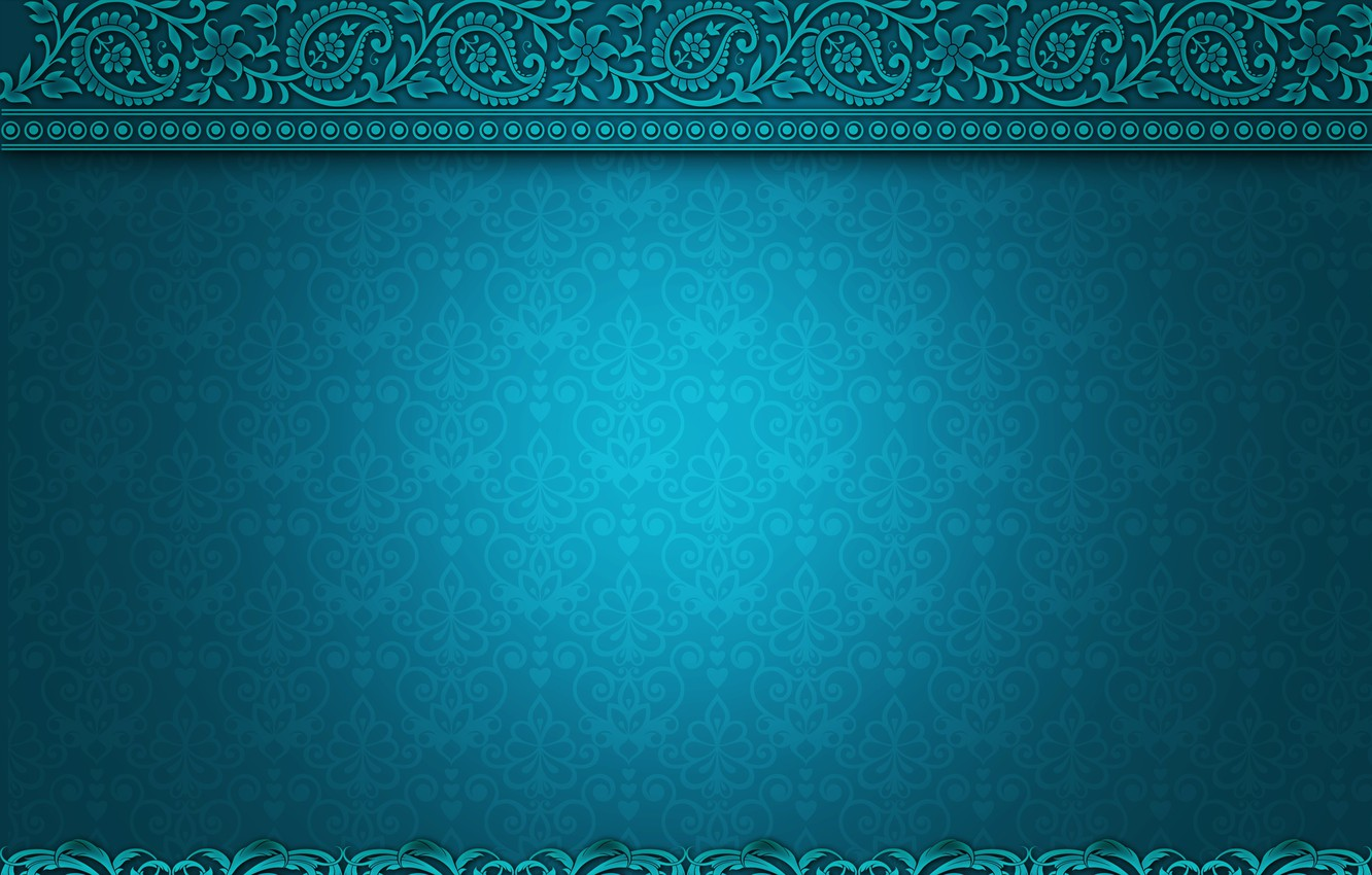 Photo wallpaper pattern, texture, ornament, turquoise, vintage