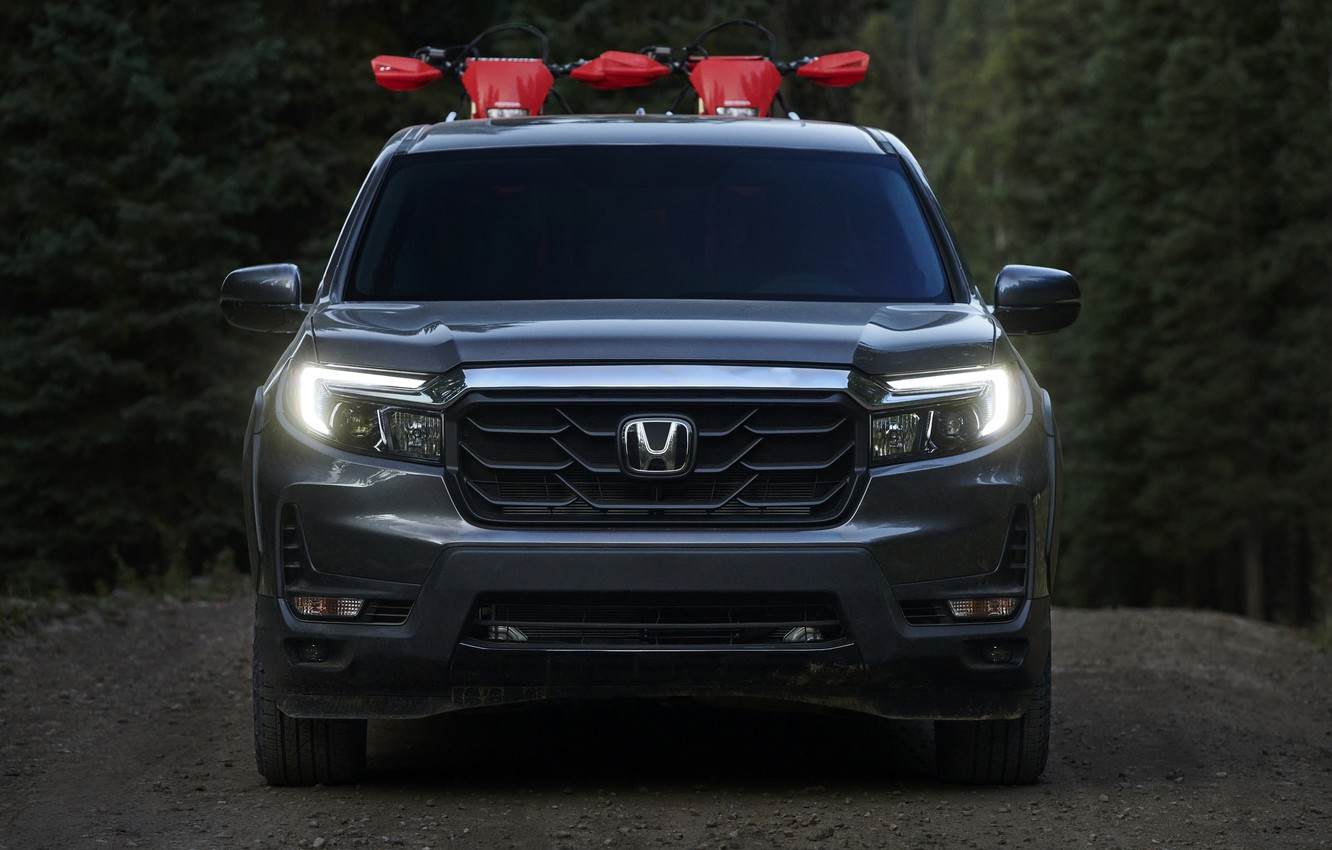 Photo wallpaper Honda, front view, pickup, 2020, Ridgeline, 2021