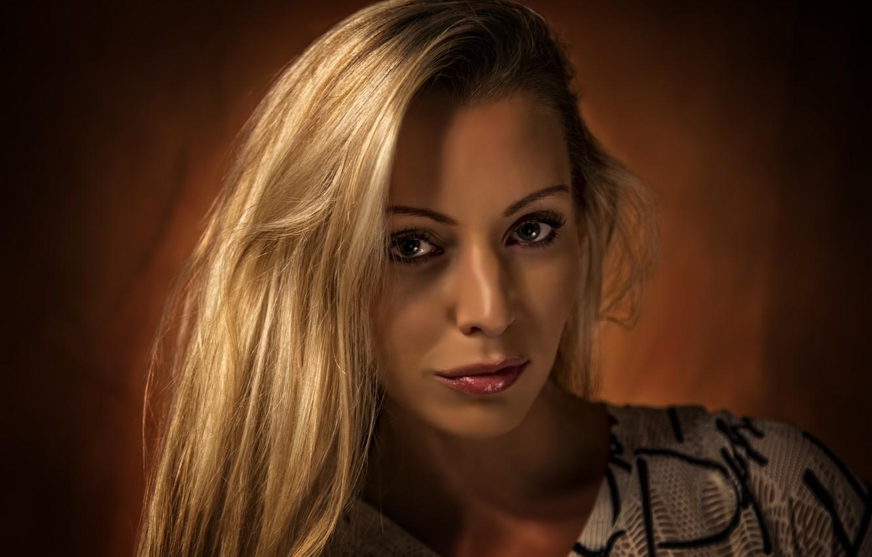 Photo wallpaper look, girl, blonde, beautiful, Kide Fotoart