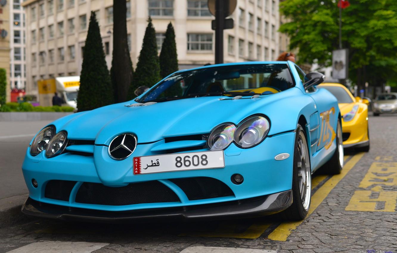 Wallpaper Mclaren Slr Blue Mercedes Benz Slr Mclaren