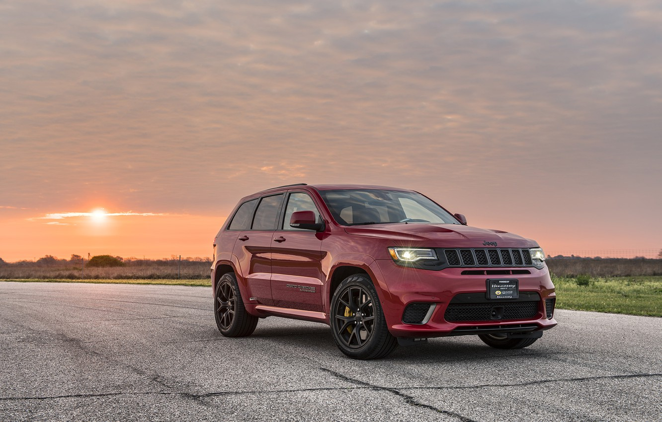 Photo wallpaper sunset, the evening, 2018, Hennessey, Jeep, Grand Cherokee, Trackhawk, HPE1000