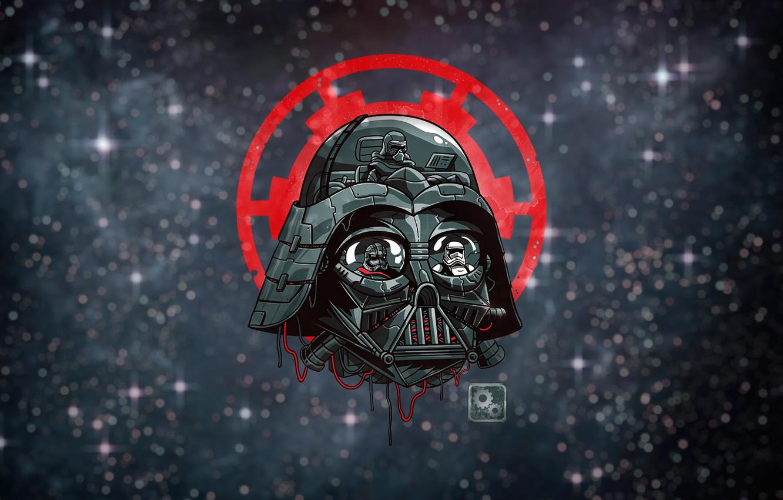 Wallpaper Minimalism Figure Star Wars Darth Vader Art