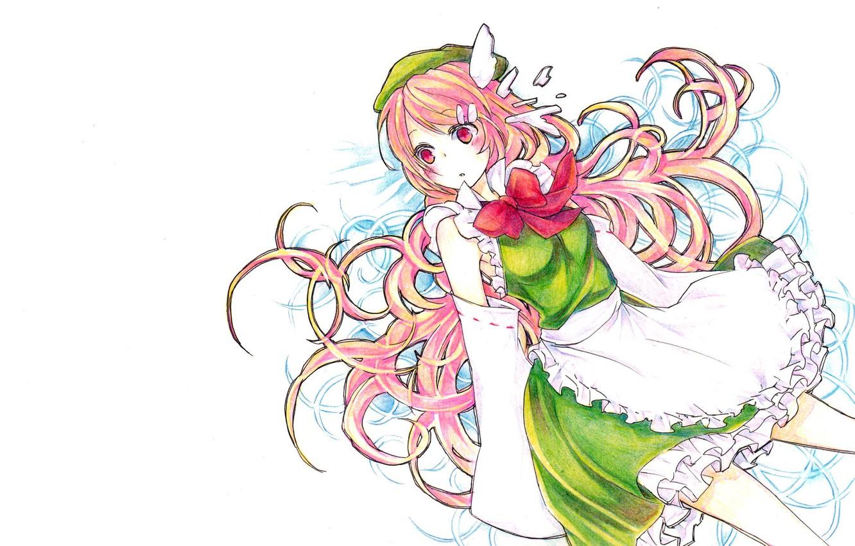 Photo wallpaper girl, background, Touhou