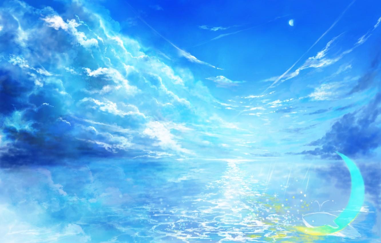 Photo wallpaper the sky, water, fantasy, Crescent