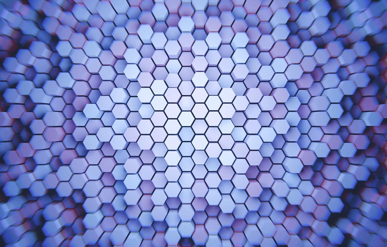 Photo wallpaper hexagons, hexagon, columns