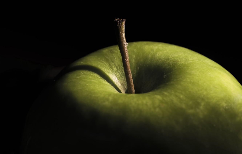 Photo wallpaper Apple, Green, macro