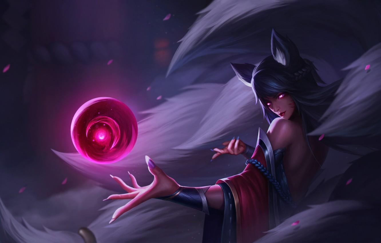 Wallpaper Girl Fantasy Art Style League Of Legends Background