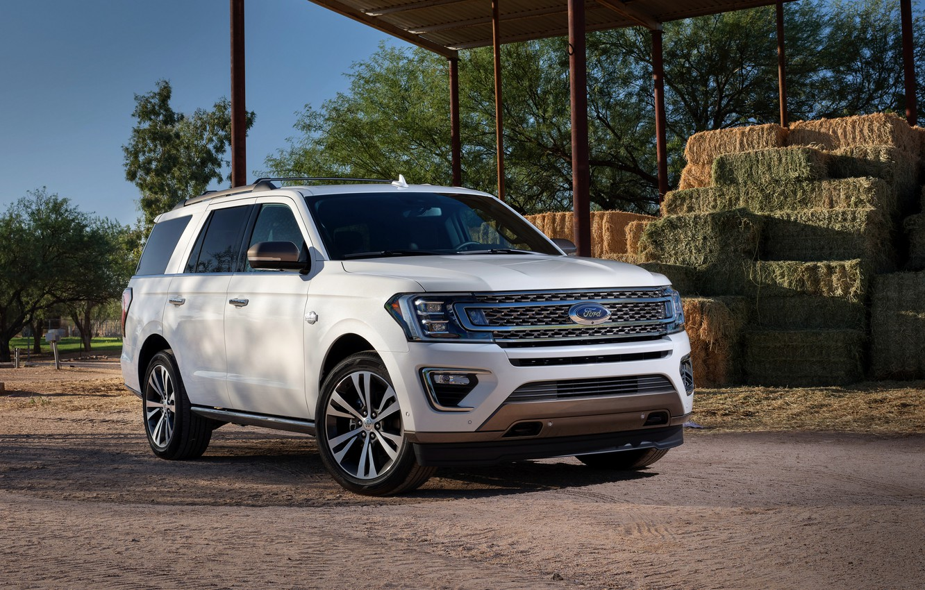 Photo wallpaper white, Ford, SUV, Expedition, 2020
