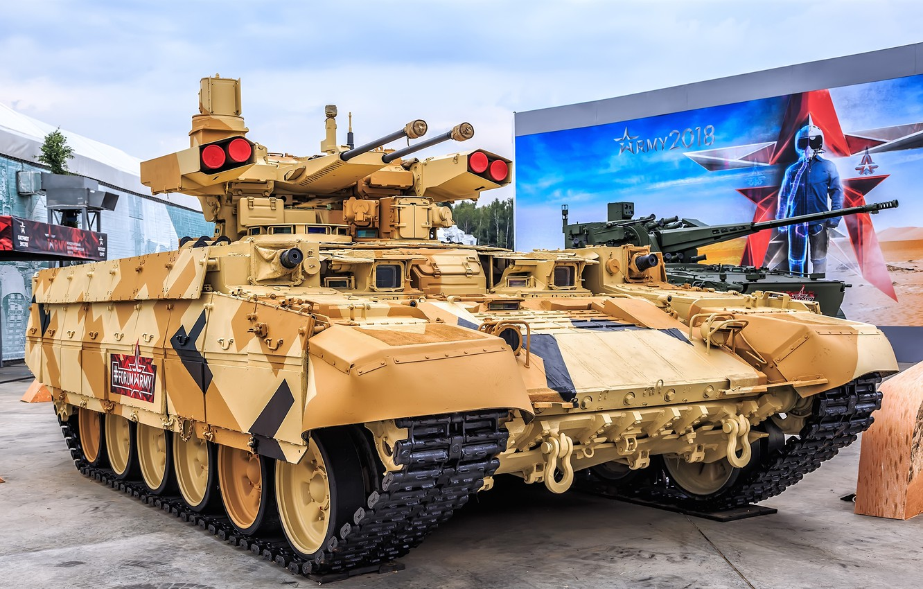 Photo wallpaper BMPT, Object 199, the fighting vehicle of support of tanks, BMPT Terminator