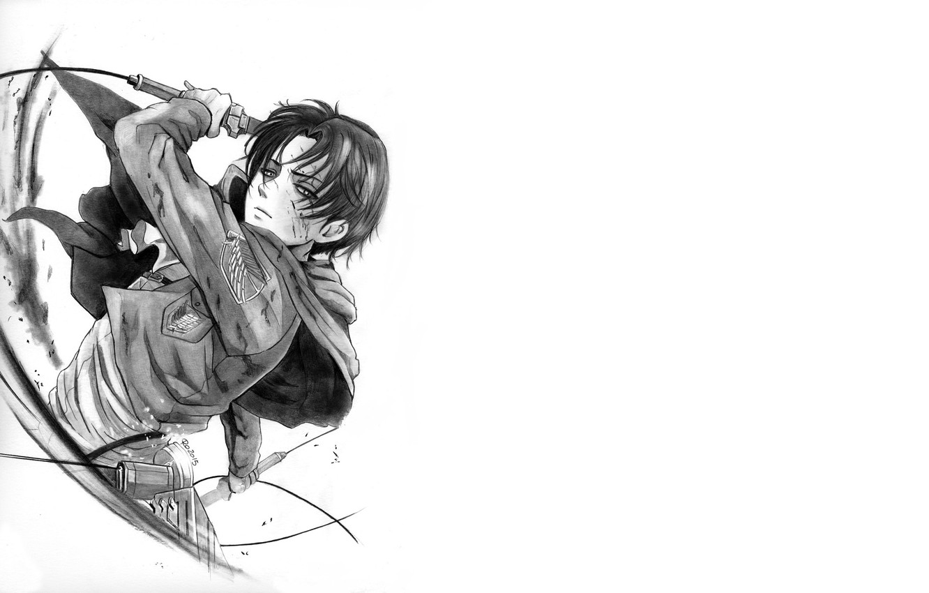 Wallpaper Figure Anime Art Attack Of The Titans Shingeki No Kyojin Levi Ackerman Levi Corporal By Redwarrior3 Images For Desktop Section Syonen Download