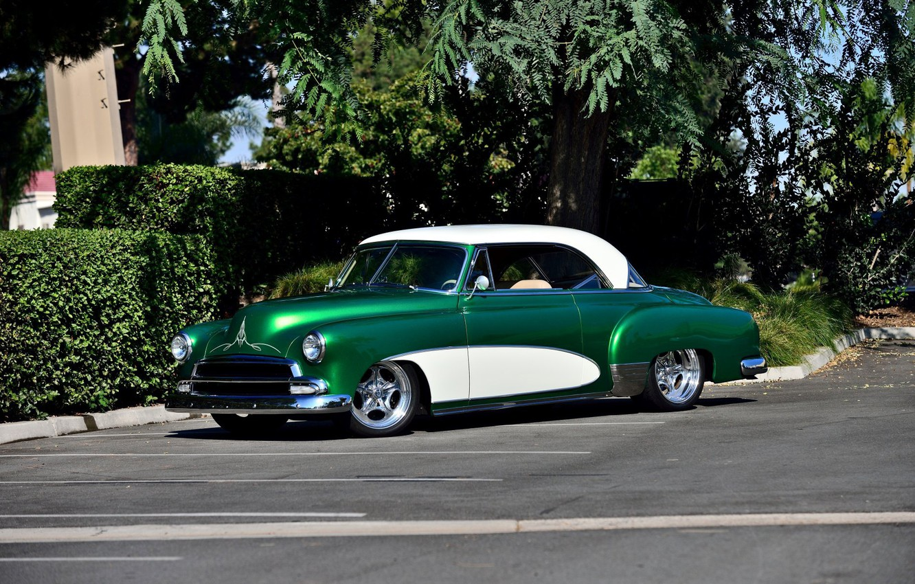 Photo wallpaper Green, Bel Air, Chevy, Old